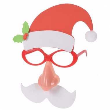 Feestartikelen kerstbril kerstman met lichtgevende neus