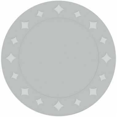 Feestplacemats metallic zilver 6 stuks