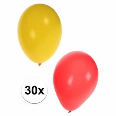 Feestversiering sinterklaas ballonnen 30 stuks