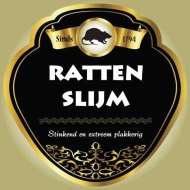 Flessen etiketten voor ratten slijm