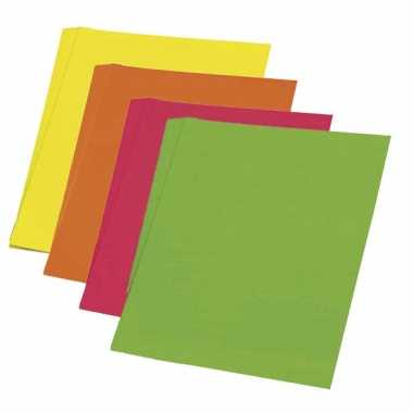 Fluor papier oranje 48 x 68 cm