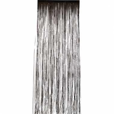 Folie deurgordijnen zwart 2 meter