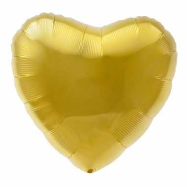 Folieballon goud hart 45 cm