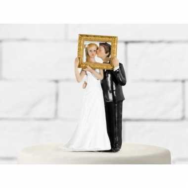 Fotolijst bruidstaart poppetjes
