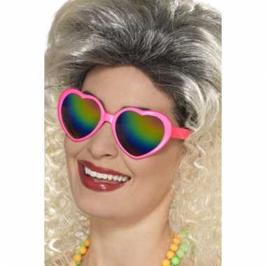 Foute roze hartjesbril