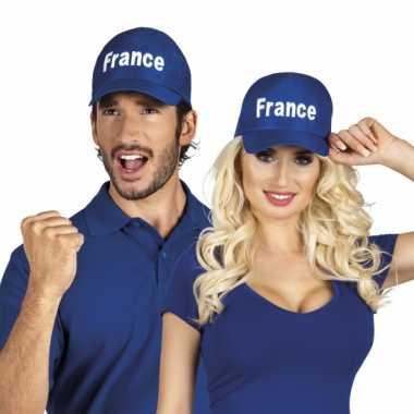 Frankrijk baseballcap blauw