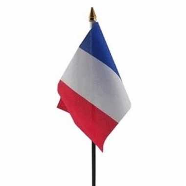 Frankrijk luxe zwaaivlaggetje polyester