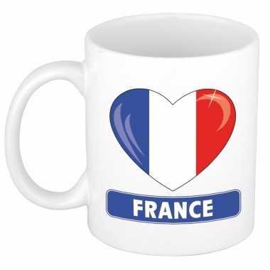 Franse vlag hart mok / beker 300 ml