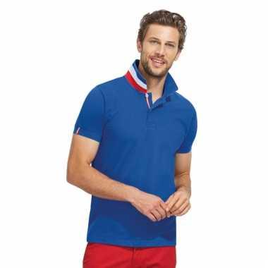 Franse vlag poloshirt voor mannen