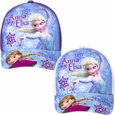 Frozen baseballcap paars voor kinderen
