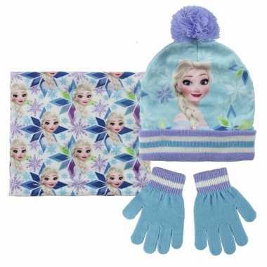 Frozen/elsa handschoenen/sjaal/muts voor kinderen