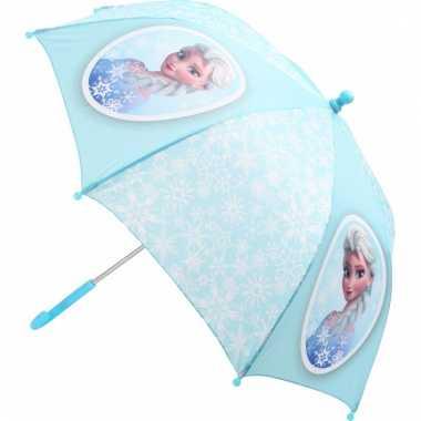Frozen elsa kinder paraplu lichtblauw