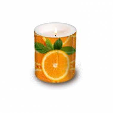 Fruit kaars met sinaasappel