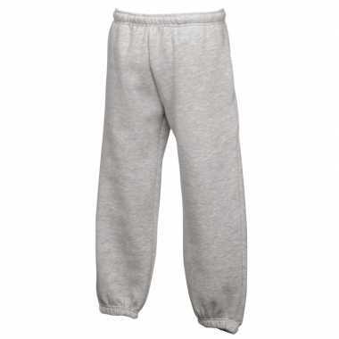 Fruit of the loom joggingbroek grijs voor kinderen