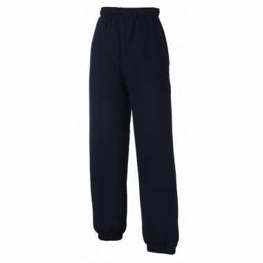 Fruit of the loom joggingbroek navy blauw voor kinderen