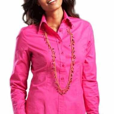 Fuchsia longsleeve overhemd voor dames