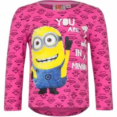 Fuchsia minion kinder shirt