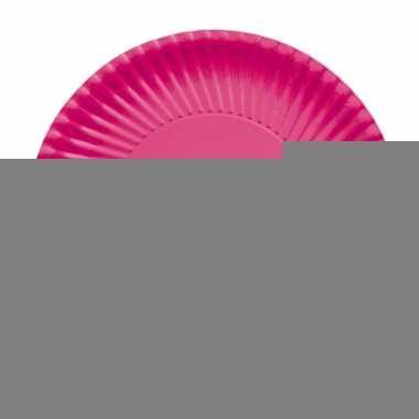 Fuchsia roze barbecue borden 23 cm