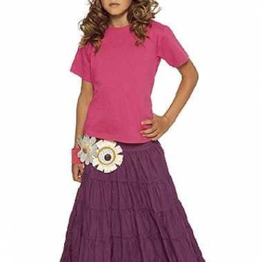 Fuchsia roze t-shirt voor kinderen