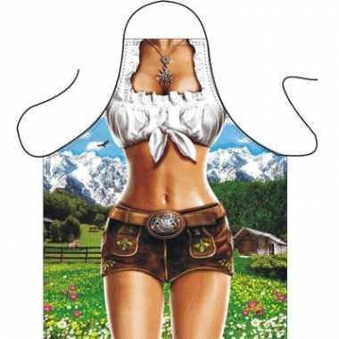 Fun schorten trendy alpen vrouw