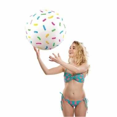 Fun strandbal donut sprinkles 46 cm
