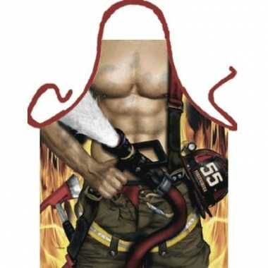 Funartikel schort brandweerman