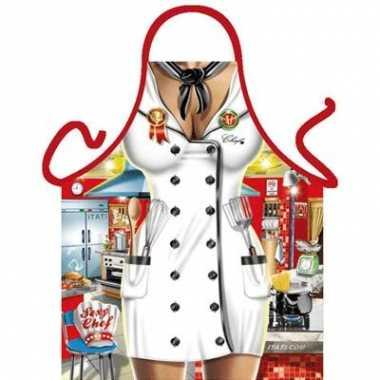 Funartikel schort chef kok