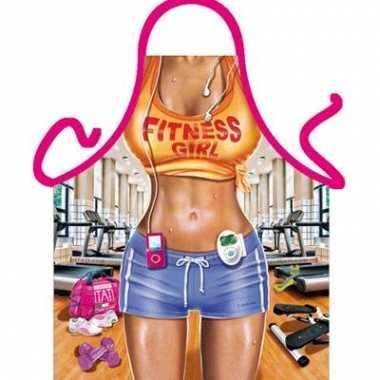 Funartikel schort fitness vrouw