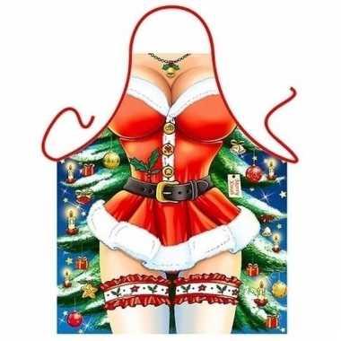Funartikel schort kerst miss