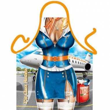 Funartikel schort stewardess