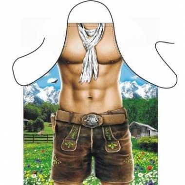 Funartikel schort trendy alpen man
