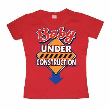 Funny dames shirt baby under construction
