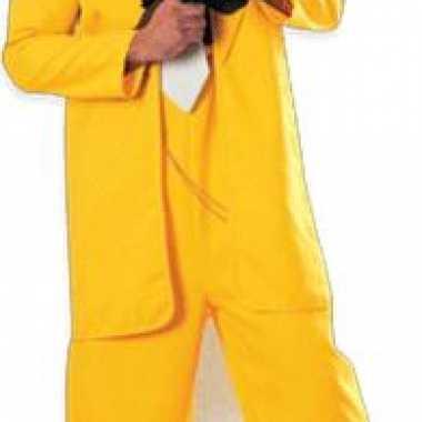 Gangster in geel pak decoratie bord