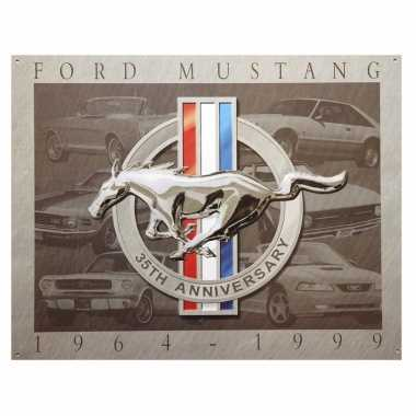 Garage decoratie plaat ford mustang