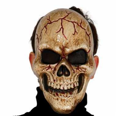 Gebarsten skeletten masker