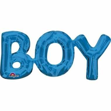 Geboorte folieballon boy blauw 55 cm