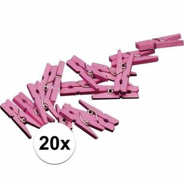 Geboorte versiering knijpertjes roze