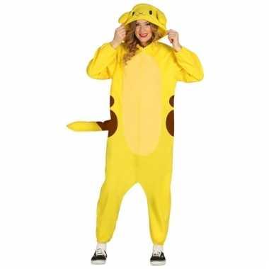 Geel hamster kostuum voor volwassenen