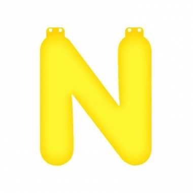 Geel opblaasbare letter n