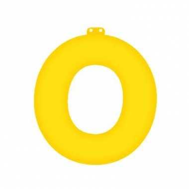 Geel opblaasbare letter o