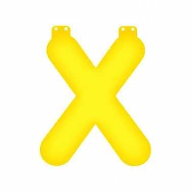 Geel opblaasbare letter x