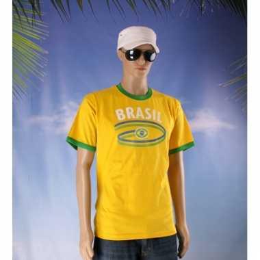 Geel shirt met brasil print