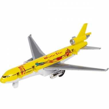 Geel vrachtvliegtuig voor kinderen
