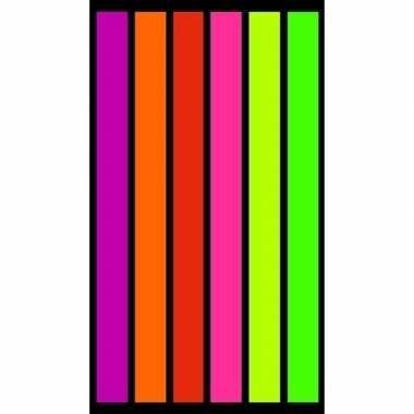 Gekleurd strandlaken happy fresh 95/100 x 175