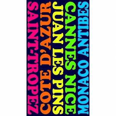 Gekleurd strandlaken plages 95/100 x 175