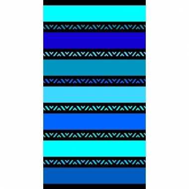 Gekleurd strandlaken twisty blue 95/100 x 175