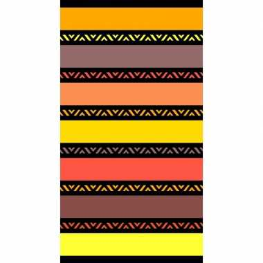 Gekleurd strandlaken twisty safran 95/100 x 175