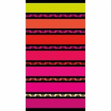 Gekleurd streepjes strandlaken 86 x 160