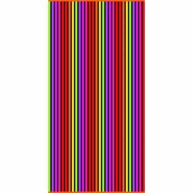 Gekleurd streepjes strandlaken matira verticaal 90 x 170