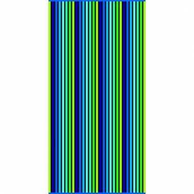 Gekleurd streepjes strandlaken puka verticaal 90 x 170